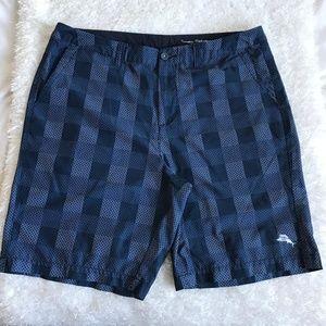 Tommy Bahama bermuda dark blue black shorts sz 38